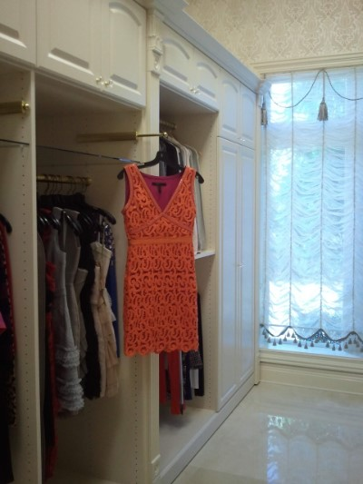 Classic ornate closet design