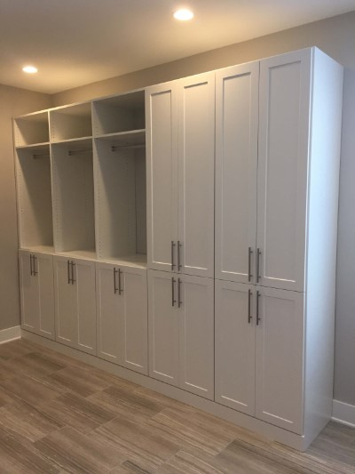 Room Converted to Closet with Shaker Doors