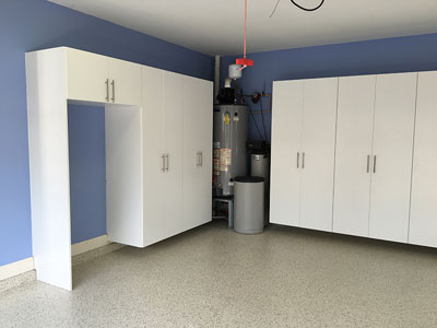 Deep Cabinets built around Refrigerator