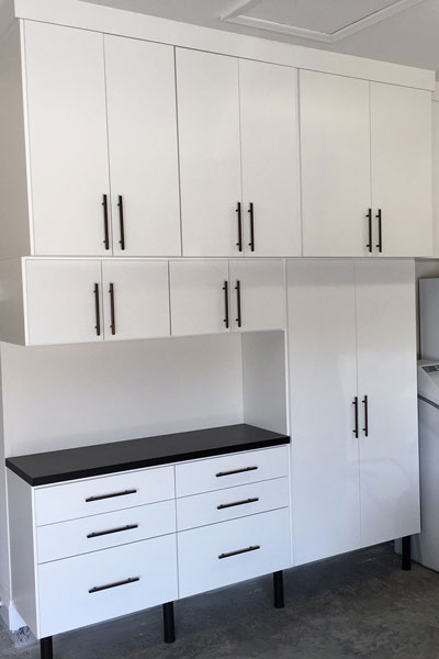 Garage Cabinets built to ceiling